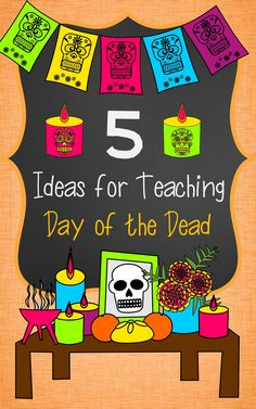 Ideas for teaching Day of the Dead (Día de los Muertos) in Spanish Class. Spanish Activities, Holiday Activities, Classroom Activities, Activities For Kids, Learning Activities, Harvest Activities, Daycare Curriculum, Vocabulary Activities, Classroom Decor