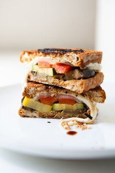 """""""Grilled Vegetable Sandwiches with Avocado or Balsamic & Mozzarella""""   WithStyleandGraceBlog.com #recipe #easy #summer"""