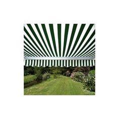 ALEKO ALEKO® Retractable 13' X 10' Patio Awning 13ft x 10ft (4m x 3m) Green And White Stripes