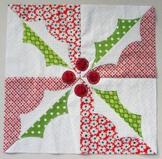 holly quilt block free pattern \u0026 templates from the flossy blossy blog. Christmas BlocksChristmas QuiltingChristmas PillowChristmas ... & Free pattern for this cute quilt. | Quilt Patterns | Pinterest ... pillowsntoast.com