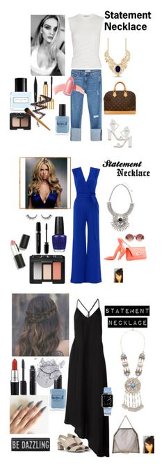 """""""Statement Necklace"""" by gaya-vas ❤ liked on Polyvore featuring T By Alexander Wang, Zara, Paul Andrew, Louis Vuitton, Marc Jacobs, Elizabeth Arden, Yves Saint Laurent, Lauren B. Beauty, NYX and NARS Cosmetics"""