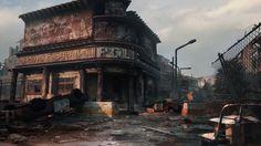 Z-End MobileGame, Maxime Delcambre Apocalypse World, Apocalypse Art, Cyberpunk, Savage, Apocalypse Landscape, Apocalypse Aesthetic, Fallout Concept Art, Animation 3d, Ruined City