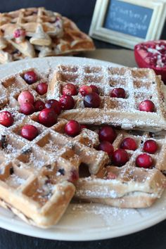 Cranberry Pomegranate Waffles