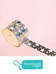 Rock Stars in Silver Foil Washi Tape for Planning • Scrapbooking • Arts Crafts • Office • Party Supplies • Gift Wrapping • Colorful Decorative • Masking Tapes • DYI from Mery Keem https://www.amazon.com/dp/B07219MHM1/ref=hnd_sw_r_pi_dp_l.AHzb57P3EV6 #handmadeatamazon