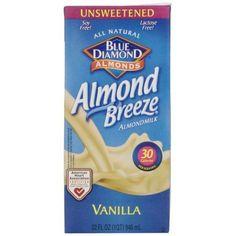 Blue Diamond Almonds Almond Breeze Almond Milk Unsweetened Vanilla, 32 FL OZ (Pack of 1)