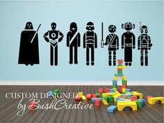 Star Wars Characters Set of 7 decals by bushcreative on Etsy