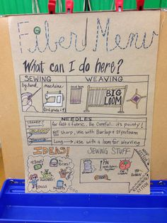fiber art centers in choice classroom - - Yahoo Image Search Results High School Art, Middle School Art, Art Room Posters, Art Bulletin Boards, 6th Grade Art, Art Curriculum, Art Station, Art Classroom, Classroom Signs