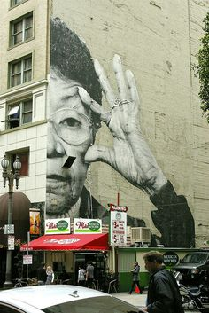 JR Wrinkles of the City  by JulieFaith, via Flickr
