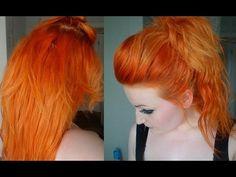 Dying My Hair Orange! Dying Hair Blonde, Dying My Hair, Dyed Hair, Ombre Hair, Hair Color Auburn, Hair Dye Colors, Hair Colour, Strawberry Blonde Hair Dye, Vidal Sassoon Hair Color