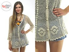 Hey, I found this really awesome Etsy listing at https://www.etsy.com/listing/193856018/70s-crochet-cardigan-vintage-70s-bell