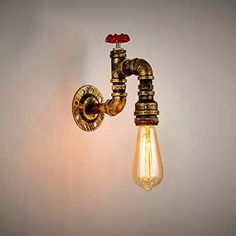 Steampunk Vintage Metal Design Loft Pipe Wall Light Lamp Retro Industriel Bar Cafe Wall Applique Décor Parfait pour la chambre à coucher Salon Cuisine Restaurants bureaux Escaliers E27 Applique