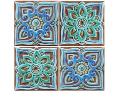 Wall Decorative Tiles Stunning 4 Moroccan Wall Hangings  Ceramic Tiles  Wall Decorgvega Inspiration Design