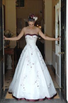 designer red wedding gown #LELOBridal #wedding