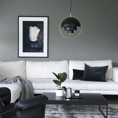 The Multi-Lite pendant was designed in 1972 by Louis Weisdorf for Gubi. Here in white and black styling by Modern Interior, Interior Design, Dark Furniture, Modern Light Fixtures, Minimalist Home Decor, Stylish Home Decor, Home Decor Styles, House Design, Jar Candle