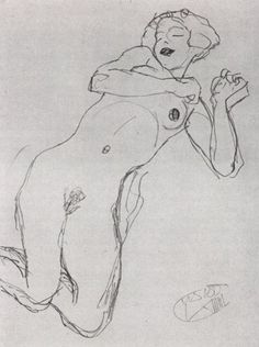 Klimt drawing, Study for