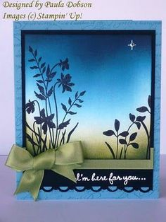 Beautifully brayered card -- looks so nice in combination with the 'Just Believe' images