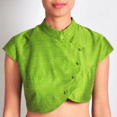 Lime Green Silk blouse
