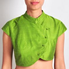 Lime Green Silk blouse  visit for similar designer blouse at: https://www.etsy.com/shop/JiyaGotaZariLace?section_id=16402837&ref=shopsection_leftnav_2