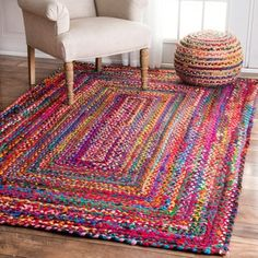 Overstock-nuLOOM Casual Handmade Braided Cotton Multi Rug (5' x 8')