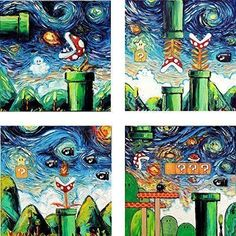 Amazing offer on 4 Print Set Video Game Wall Art Prints Retro Gaming Posters Aja inches Retro Gamer Decor online - Greatstylegreatshop Wall Art Prints, Game Art, Poster Prints, Wall Art, Video Game Wall Art, Video Game Art, Painting, Art, Starry Night Painting