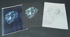 Helmet Concept Art Sketches | Prop Store - Ultimate Movie Collectables