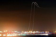 航空路 長時間露光