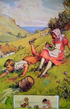 1920s Jack and Jill NURSERY RHYME Margaret TARRANT
