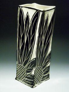 Sgraffito Vase by Linda Ellard-Brown
