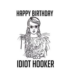 Scream Queens Card funny joke silly rude sarcastic birthday hooker joke handmade Chanel drawing illustration by OhSnapCards on Etsy