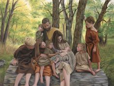 Multiply and Replenish Spiritual Paintings, Religious Paintings, Religious Art, Jesus Christ Lds, Military Drawings, Lds Art, Families Are Forever, Building Art, Adam And Eve