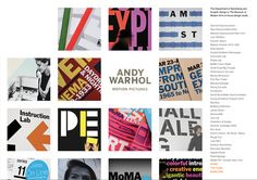 Isolation of type & visuals. No immediate juxtaposition of content.