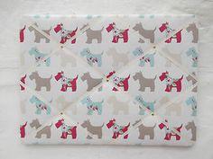 Handmade Notice/Pin/Memo Board in Clarke & Clarke 'Scottie Dog' Fabric   eBay