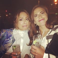 First shield agent. Newest shield agent. // Chloe Bennett / Skye, and Hayley Atwell / Agent Carter #agentsofinstagram