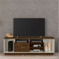 Rack Adria 182 cm Off White Savana Off White, Tv Stand And Entertainment Center, Rack Tv, Adria, Pallet Tv, Tv Stands, Design, Furniture, Flat Screen