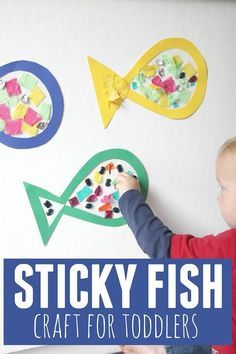 Fish Craft for Toddlers Toddler Approved!: Sticky Fish Craft for ToddlersToddler Approved!: Sticky Fish Craft for Toddlers Toddler Preschool, Toddler Crafts, Preschool Crafts, Crafts For Kids, Preschool Christmas, Christmas Crafts, Ocean Lesson Plans, Lesson Plans For Toddlers, Fish Activities