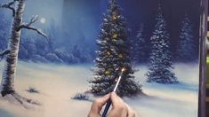 Silent Night At Christmas Baubles Addition LANDSCAPE OIL PAINTING TUTORIAL -Paint With Maz - YouTube
