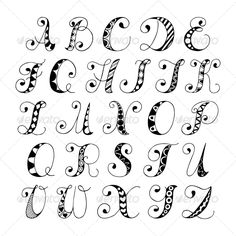 Sketch hand drawn alphabet black and white font letters isolated. - Fonts - Ideas of Fonts - Sketch hand drawn alphabet black and white font letters isolated vector illustration Stock Vector 27941808 Doodle Fonts, Doodle Lettering, Brush Lettering, Lettering Ideas, Typography Drawing, Lettering Tutorial, Doodle Alphabet, Hand Lettering Alphabet, Fancy Writing Alphabet