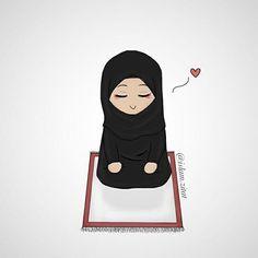 Salah where my soul finds peace. Cute Muslim Couples, Muslim Girls, Muslim Brides, Cute Couple Cartoon, Girl Cartoon, Niqab, Ramadan Decoration, Hijab Drawing, Islamic Cartoon