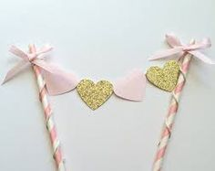 pink kid's birthday cake bunting - Google Search