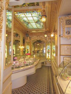 Nice, France love the stain glass ceiling