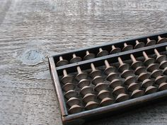 vintage wooden japanese soroban abacus 1/5 bead style by 24pont, $16.00