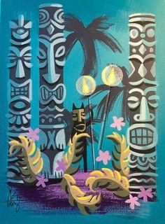 Perfect for the tiki room. Perfect for the tiki room. Retro Kunst, Retro Art, Retro Room, Tiki Art, Tiki Tiki, Vintage Tiki, Vintage Hawaii, Tiki Bar Decor, Tiki Lounge