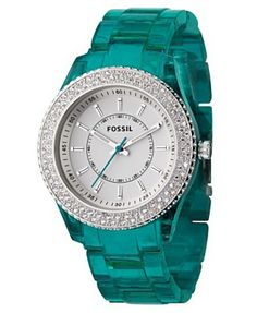 Teal fossil watch!