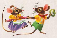 Richard Scarry 'Mouse's House' written by Kathryn and Byron Jackson (1949) Children's Book Illustration, Book Illustrations, Richard Scarry, Beautiful Cover, Little Golden Books, Vintage Children's Books, Animal Party, Cover Art, Illustrators