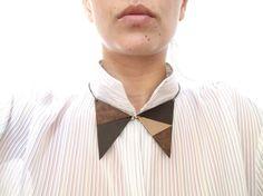 Leather+Collar+Necklace+leather+bib+necklace+Geometric+by+NasuKka,+$32.00