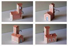 Drying Installation Free Building Paper Model Download  Drying Installation in a house, created by PHM, there are H0 (1:87) and N-Scale (1:160) two versions. It is perfect for Dioramas, Train Sets ,RPG and Wargames.