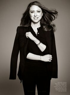 Killing it chelsea clinton wears skinny jeans four months for Elle magazine this month