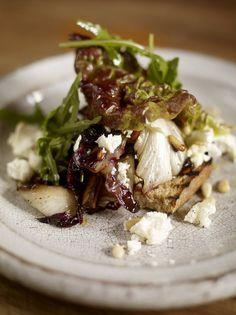 Use arugula in place of wild rocket Warm winter salad of radicchio with wild rocket and feta
