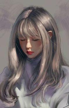 art art girl Digital Art by Digital Art Girl, Digital Foto, Digital Art Anime, Digital Portrait, Portrait Art, Fille Blonde Anime, Art Anime Fille, Anime Art Girl, Anime Girls