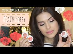 Spring Makeup Tutorial and Giveaway! Peach Poppy feat. ColourPop - YouTube